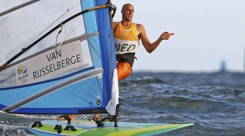 Dorian winning the Olympic windsurfing 2016 in Rio